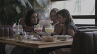 Adult Female Friends in restaurant enjoying lunch