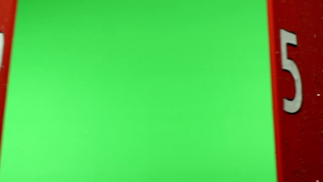 Advent Calendar opening on Christmas day, Chroma key Green