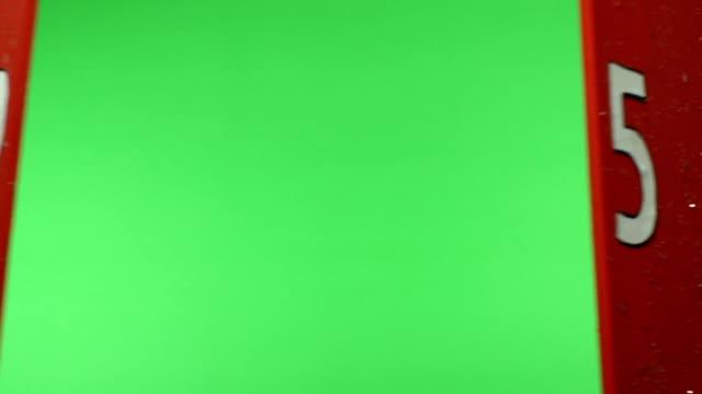 Advent Kalender wird am Weihnachtstag, die Chroma-key-Grün