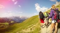 Avventure in montagna: hiking pov