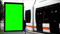 Pubblicità Billboard con schermo verde