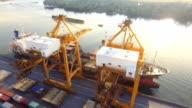 Aerail Blick auf container