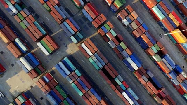 Aerail weergave van cargo container