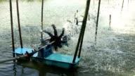Aerator turbine wheel machine fill oxygen into water.