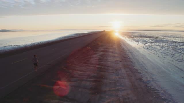 Aerial 4K: Running Toward the Sun