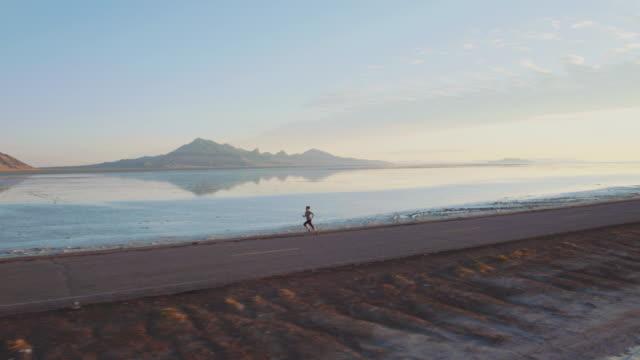 Aerial 4K: Sunrise Run
