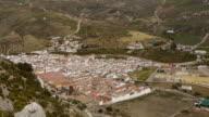 TL Aerial. Andalusian Village near El Chorro, Spain.