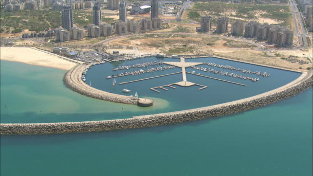 Ashdod Marina: Aerial Ashdod Marina One Of The Newest Marinas In Israel