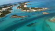 Aerial Bahamas Low Flight