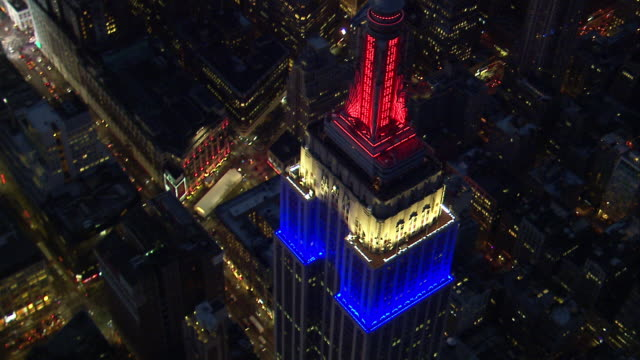 Aerial Birds-Eye-View of Empire State Building