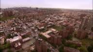 Aerial Bronx heading toward Manhattan/ New York City