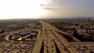 Aerial California Los Angeles Freeway