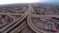 Veduta aerea della superstrada a Los Angeles, California