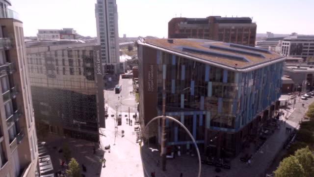 Aerial Cardiff City Centre