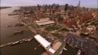 Aerial Chelsea and west side of Manhattan/ New York City