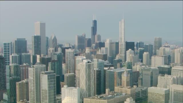 WGN Aerial Chicago Skyline in Summer on August 30 2015