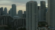 Aerial Cityscape Of Miami At Dusk