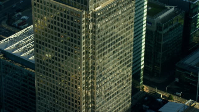 Aerial close up view of modern architecture London