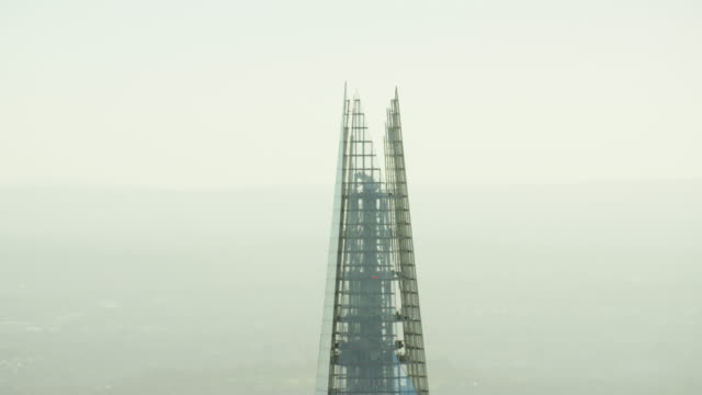 Aerial close up view of the Shard building