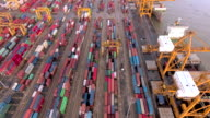 Aerial Containers in freight terminal