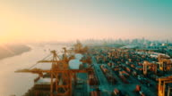 Aerial Containers Port view
