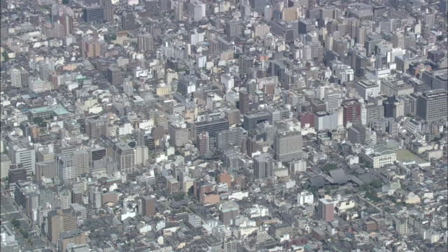Aerial Downtown Kyoto