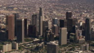 Aerial MS TS Downtown Los Angeles / California, United States.
