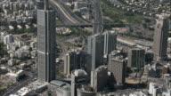 Aerial downtown Tel Aviv, Israel