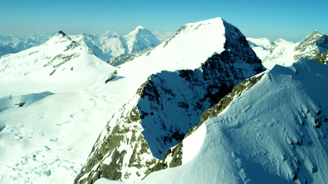 Aerial Eiger Swiss mountain Alps outdoor tourism summit