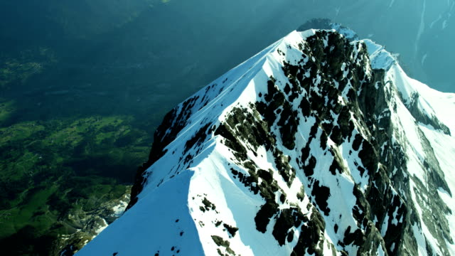 Aerial Eiger Switzerland Rock climbing ice mountain Alps