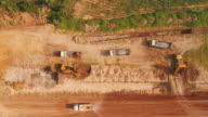 Aerial excavator working