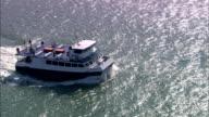 Aerial ferry and catamaran ferry/ Southampton, England