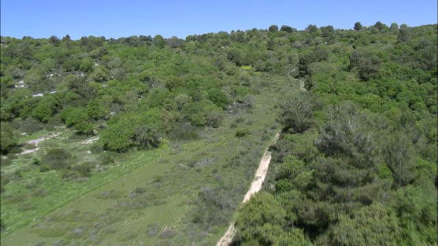 Aerial field in Ramot Menashe, Galilee, Israel