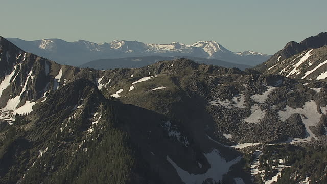 Aerial Flyby of Mountain Range