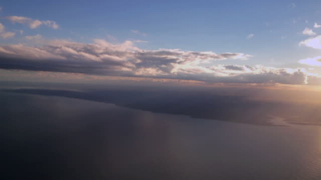 Aerial flying over Instanbul and Indian Ocean