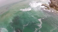 Aerial footage of a shoreline