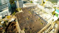Aerial footage of construction site.