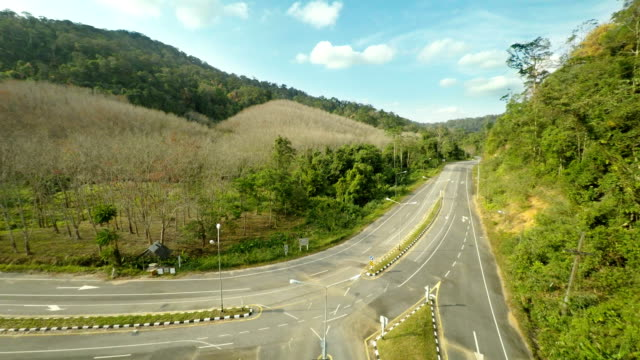 aerial footage of the highway