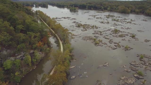 Luftaufnahmen von den Potomac River und C & O Canal in Maryland