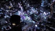 Aerial footages of Shibuya.