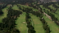Aerial MS TS, Golf Course / California, United States