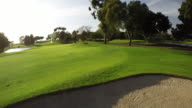 4K Aerial golf course scenes in SoCal.