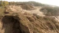 Aerial Gravel-mining