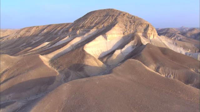 Aerial hills and valleys of the Judea Desert, Israel