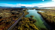 Aerial Iceland Landscape at Myvatn