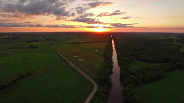 Aerial Iowa Countryside