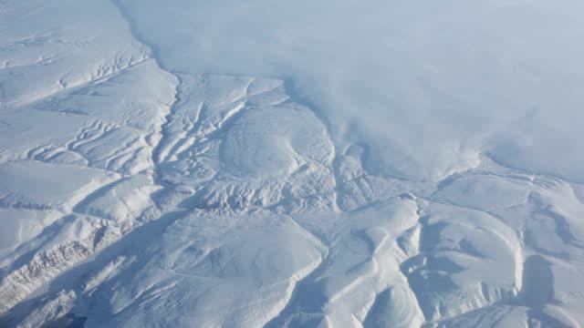 Luftaufnahme der Landschaft der Arktis