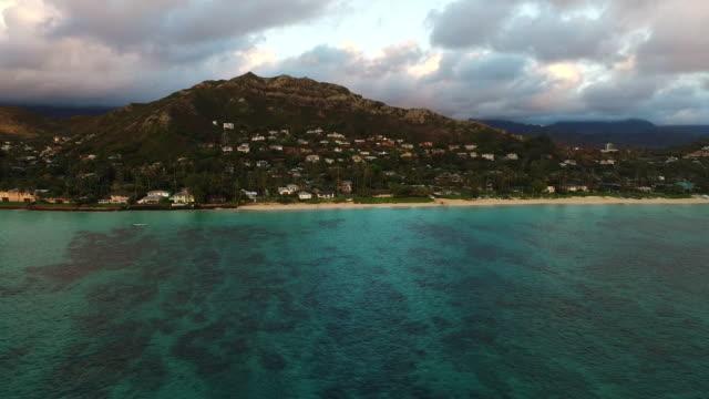 Aerial, Lanikai beach, Hawaii