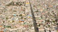 Aerial Mexico City Overcrowding