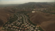 Aerial Neighborhood In Valley